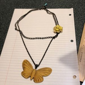 Lucky Brand Butterfly 2 in 1 Necklace